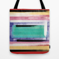 inside rectangle Tote Bag by SpinL