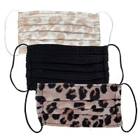 Kitsch Cotton Face Mask Set in Leopard