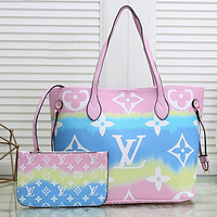 Louis Vuitton LV Classic Two-Piece Set Fashion Lady Shopping Bag Shoulder Bag Coin Purse