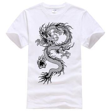 2017 Summer New men women brand t-shirt Fashion Dragon printing cool t shirt Plus size short sleeves t shirt men #094