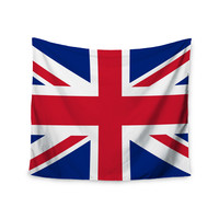 """Bruce Stanfield """"Classic Union Jack"""" Blue Red Wall Tapestry"""