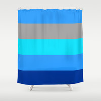 Simple Lines Series Shower Curtain by Timothy Davis