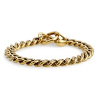 Men's Giles & Brother Spike Toggle Chain Bracelet - Classic Brass