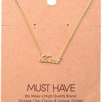 Must Have-Texas Necklace, Gold