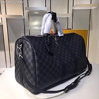 LV Louis Vuitton MONOGRAM CANVAS KEEPALL 55 SHOULDER BAG TRAVEL BAG