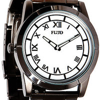 Flud Watches The Moment Watch in Gun White Linked