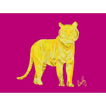 Tiger in Yellow Wall Art