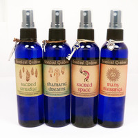 Native Spirit Sprays Set - Native American Inspired Aromatherapy Sacred Smudge, Shamanic Dreams, Sacred Space & Many Blessings Gift Set