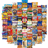 Ultimate Snacks Chips Cookies Candy Variety Assortment Pack Includes Simply 7 Cheez It Goldfish Kettle Oreos Popcorners & More Includes Recipes By Custom Varietea Bulk Sampler 65 Snack Size Packs