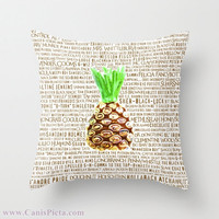 Psych Television Show, Burton Guster Nicknames, Alias 16x16 Graphic Print Decorative Throw Pillow Cover - Pineapple, Great T.V., Pop Culture