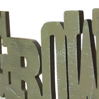 Wood hanging GROW sign for garden