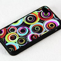 Fashion Circle Dots iPhone 4 iPhone 4S Case, Rubber Material Full Protection