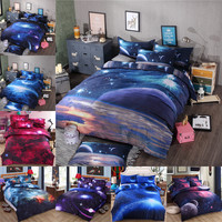 3D Galaxy Bedding Sets Universe Outer Space Themed Bedspread 2pcs/3pcs/4pcs Twin/Queen Size Bed Sheets Duvet Cover Set #W10074#