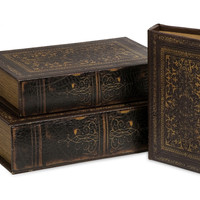 Old World Book Box Collection Set of 3