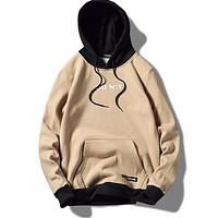 New Fashion Hoodie Streetwear Hip Hop Patchwork Hooded Jersey Hoody Men'S Hoodies Drawstring Pocket Sweatshirts