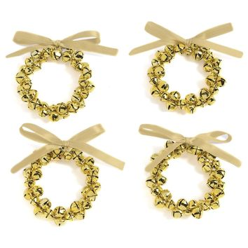 Jingle Bells Napkin Ring Set (Set of 4)