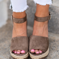 Your Lucky Day Wedges, Taupe
