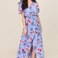 Kinsley Floral Wrap Maxi Romper