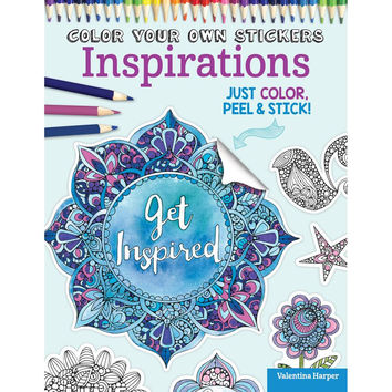Color Your Own Stickers Coloring Book by Valentina Harper