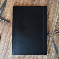 Sleek Italian Leather Sketchbook A4