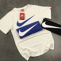 NIKE New fashion big logo print short sleeve t-shirt top White