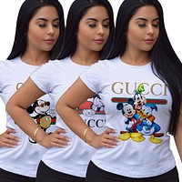 GUCCI x DISNEY 2020 New Women's Casual Letter Print T-Shirt