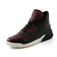 Brand style mens boots black and white color classic high top shoes red blue camo model man fashion boots boy autumn boots