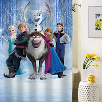 disney frozen shower curtain special custom shower curtains that will make your bathroom adorable