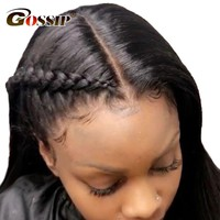 Brazilian Straight 360 Lace Frontal Wig Pre Plucked With Baby Hair Gossip Lace Front Human Hair Wigs For Black Women Non Remy