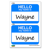 Wayne Hello My Name Is - Sheet of 2 Stickers