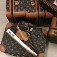 Nike Air Jordan 1 x OFF-WHITE x LOUIS VUITTON AJ1 x OW x LV With Box - Best Deal Online
