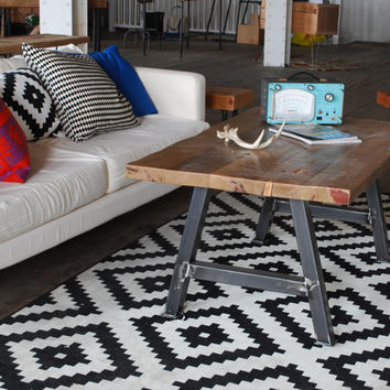Rustic Modern Architect Coffee Table made of reclaimed wood