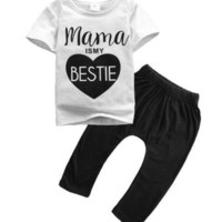 (Mama is my Bestie ) Set. Includes Shirt and Pants