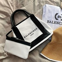 BALENCIAGA canvas women handbag shoulder bag crossbody bag two-piece set