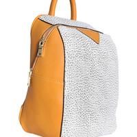 Marbled Contrast Backpack - Mustard