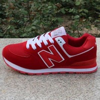 DCCK8NT women men casual running new balance sport shoes sneakers red