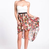 Falling Floral High Low Dress - LoveCulture