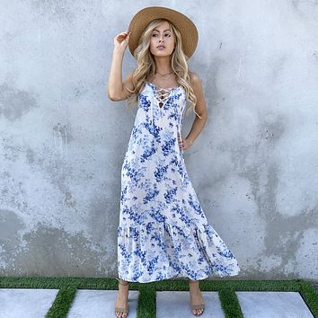 Heavenly Bliss Floral Maxi Dress