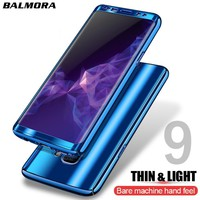 BALMORA 360 Covered Mirror Plating Phone Case For Samsung Galaxy S8 S9 Plus note 8 Protective Cover For Samsung S7 S7Edge Cases