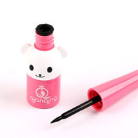 2017 Top Quality Black Waterproof Cute bear Eyeliner Liquid Pen Makeup Cosmetic Eye Liner
