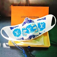Louis Vuitton  Mask  LV Trending Gradient Breathable PU With Cotton Internal Mask Blue+Cyan