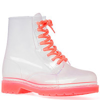 The See Thru Boot in Clear Pink