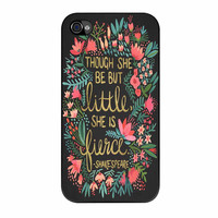 Little And Fierce On Charcoal iPhone 4 Case