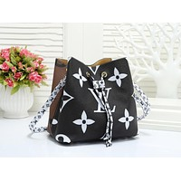 Louis Vuitton LV Fashion New Letter Monogram Print Leather Shopping Contrast Color Shoulder Bag Handbag Women