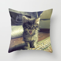 bleh! Throw Pillow by Pope Saint Victor