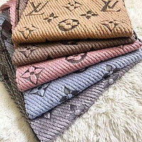 LV Louis Vuitton Popular Men Women Multicolor Embroider Easy To Match Scarf Scarves