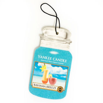 Bahama Breeze Scent Classic Paper Car Jar by Yankee Candle