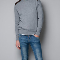 SWEATER WITH QUILTED SHOULDERS - Knitwear - Man - ZARA United States