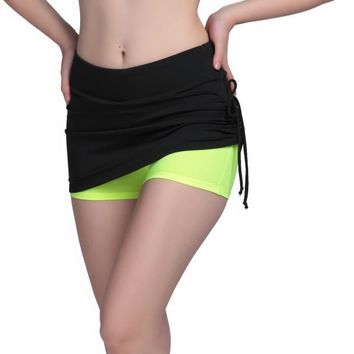Sports Skirt with Attached Shorts 4 Colors