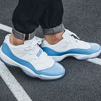 Nike Air Jordan 11 Low UNC Sneakers Shoes